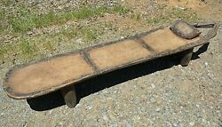 Antique Senufo Tribe African Carved Wooden Kpaala Bed Bench Ivory Coast, Africa