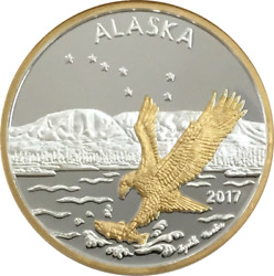Alaska Mint Official 2017 State Medallion Gold And Silver Medallion Proof 1 Oz