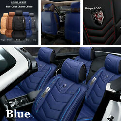 Luxury Leather Full Surround Seat Cover Cushion 5-Seat Car Interior Accessories