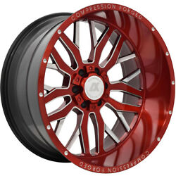4- 22x12 Red Axe Offroad AX1.2 8x6.5 -44 Rims Country Hunter MT 33 Tires