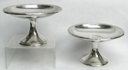 International Sterling Silver Prelude Pair Of Compotes