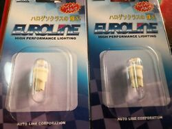 999AUTOMOTIVE SPECIAL -2X T10 LED WHITE BULBS FOR PARKER NUMBER PLATE UNIVERSAL