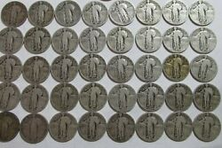 Roll Of 40 10 Face 90 Silver Standing Liberty Quarters Dated Bulk 1925-30