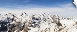 Wall Decal entitled View from Piz Gloria Bernese Oberland Switzerland