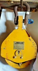 Miller High Lift Block 212l20,20 Ton,double Sheave,3/4 Wire Rope, Lifting Lug