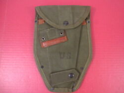 Vietnam Us Army M1956 Entrenching Tool Or Shovel Canvas Carrier Cover - Unissued