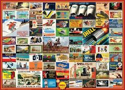 Jigsaw Puzzle Car Vintage Advertising Posters Shell Oil 1000 Piece New Made Usa