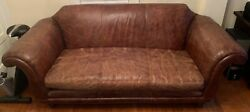 Restoration Hardware Regency 8and039 Classic Distressed Sofa Couch