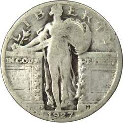 1927 S Standing Liberty Quarter Ag About Good 90 Silver 25c Us Type Coin