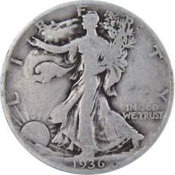 1936 D Liberty Walking Half Dollar Ag About Good 90 Silver 50c Us Coin