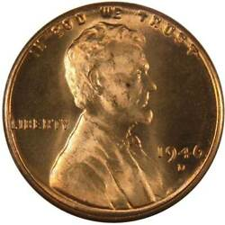 1946 D Lincoln Wheat Cent Bu Uncirculated Mint State Bronze Penny 1c Coin