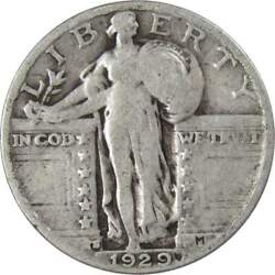 1929 S Standing Liberty Quarter Ag About Good 90 Silver 25c Us Type Coin