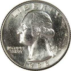 1986 D Washington Quarter Bu Uncirculated Mint State 25c Us Coin Collectible