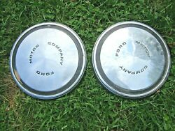 Vintage 1967 -1976 Ford Galaxie Fairlane Mustang Ltd Pick-up Truck Pair Hubcaps