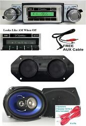 1974 Cadillac Radio + Stereo Dash Replacement Speaker + 6x9and039s 630