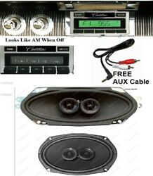 1965-66 Cadillac Hardtop Radio Aux Usb Front And Rear Speakers Stereo 630 Ii