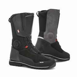 Rev'it Discovery H2o Mens Motorcycle Leather Boots Black/black