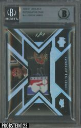 2006-07 UD Black LeBron James NBA Logoman Logo Tag Patch Ink AUTO 11 BGS BAS
