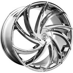 4 - 22x9 Chrome Wheel Lexani Twister 5x4.5 38