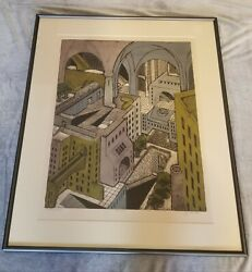 John Ross Atrium Signed Artistand039s Proof Collagraph