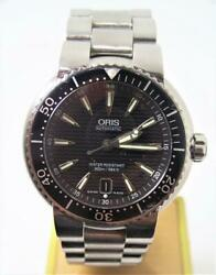 Mens S/steel Oris Ref 7533p Automatic 300m / 984ft Divers Watch Water Tested