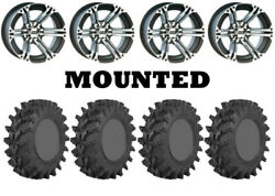 Kit 4 Sti Outback Max Tires 30x9.5-14 On Itp Ss212 Machined Wheels Irs
