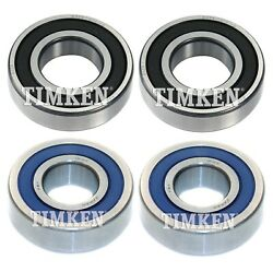 Rear Inner And Outer Wheel Bearing Kit Timken For Chrysler Plymouth Conquest Rwd