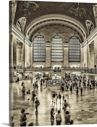 Grand Central Station In New York City Canvas Wall Art Print, New York City Home