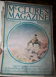 Original Maxfield Parrish Group Of 4 Mcclure Magazine Vovers And Prints 1900-10