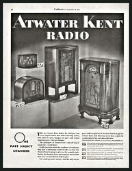 1933 Atwater Kent Model 708 275 667 310 Console Table Tube Radio Antique Ad