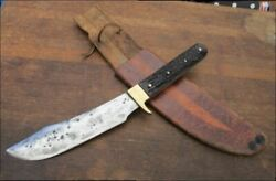 Finest Vintage Custom Hammer-forged Carbon Steel Hunting Skinning Knife W/stag
