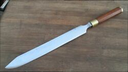 Wow Vintage Custom Carbon Steel Chef's Butcher-style Carving Knife - Razor Sharp
