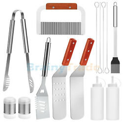 10/14pcs Bbq Grill Tool Set Grilling Accessories For Cooking Backyard Barbecue