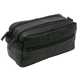 AlpineSwiss Sedona Toiletry Bag Genuine Leather Shaving Kit Dopp Kit Travel Case $16.99