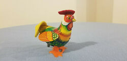 Vintage Rudy The Rooster Tin Wind Up Toy