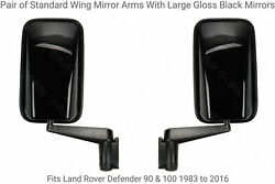 2 Std Arms + 2 Large Gloss Black Wing Mirrors + 2 Heater Element Defender 90 110