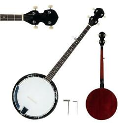 5 String Banjo W/ Closed Back 24 Brackets Head And Maple Neck