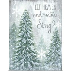 Alp1720 - Let Heaven And Nature Sing Poster Art Print Christmas Home Decor