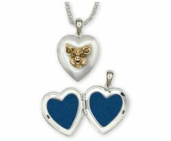 Pig Jewelry Silver And 14k Gold Handmade Pig Photo Locket P1h-tnt