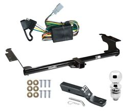 Trailer Tow Hitch For 99-04 Honda Odyssey Complete Package W/ Wiring And 2 Ball