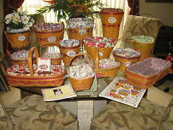 Longaberger Grandma Bonnieand039s May Series Complete Set 14 Baskets Lot And Extras