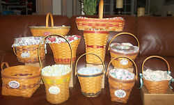 Longaberger Grandma Bonnie's May Series Lot 11 Of The 14 Basket Set And Extras