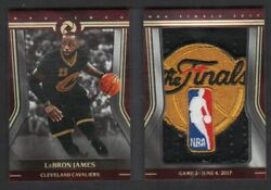 2017-18 PANINI OPULENCE LEBRON JAMES GAME 2 FINALS LOGOMAN PATCH BOOKLET # 11