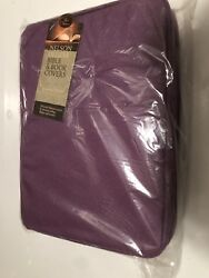 New Purple Zip Close Book / Bible Cover By Thomas Nelson