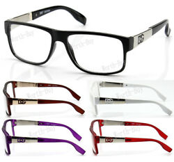 New WB Men Women Clear Lens Eye Glasses Designer Frame Optical RX Fashion Square $12.99
