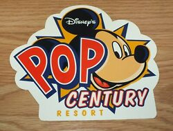 Genuine Disney's Pop Century Resort Collectible Mickey Mouse Post Card Read