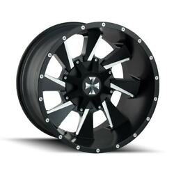 4 New 20x9 Cali Off-Road Distorted Black WheelRim 8x165.1 8-165.1 20-9 ET18