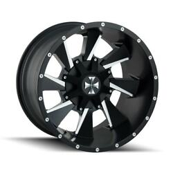 4 New 20x9 Cali Off-Road Distorted Black WheelRim 8x180 8-180 20-9 ET18