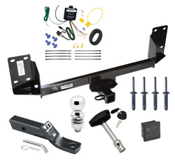 Trailer Tow Hitch For 07-18 Bmw X5 All Styles Delux Package Wiring And Ball And Lock