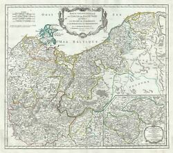 1751 Vaugondy Map Of The Northern Portions Of Upper Saxony, Germany